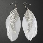 Fashion Angel Wings Feather Earrings