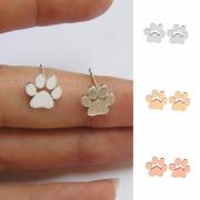 Cute Style Puppy Footprint Alloy Stud Earrings