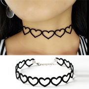 Sweet Style Hollow Out Heart Choker Necklace