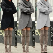 Fashion Solid Color 2 Side Pockets Long Sleeve Thin Hooded Cardigan