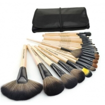 Wood Black 32Pcs Kit Brush Lot Makeup Brushes Professional Cosmetic Make Up Set