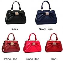 Elegant Vintage Bowtie Solid Color Tote Shoulder Bag