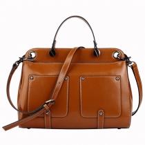 Vintage Simple Large Rivets Shoulder Bag Tote Handbag