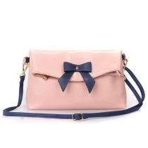 Casual Bowknot Contrast Color Handbag Crossbody Bag