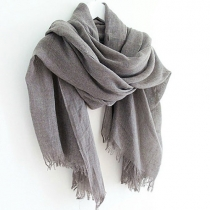 European Style Leisure Simple Pure Color Fringe Scarf