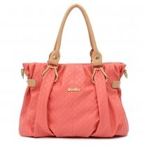 Elegant Solid Candy Colors Embossed Pendant Handbag Shoulder Bag