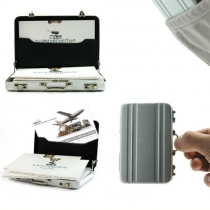 Hot Mini Briefcase Business Card Case Coin Case Aluminium Credit Card Holder