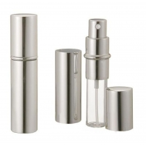 Silver Metallic Perfume Atomizer Spray 10 ML for purse or travel Refillable