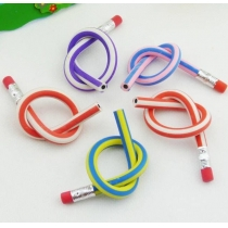 5x Colorful Magic Bendy Flexible Soft Pencil With Eraser For Kids Writing Hot