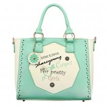 Fashion Contrast Color Handbag Shoulder Bag Cross Body Bag