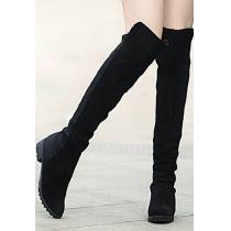 Retro Roman Elegant Gorgeous Pure Color Over-the-knee Boots