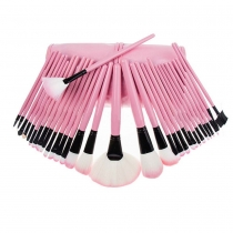 Professional Beauty 32 PCS Cosmetic Makeup Brushes Set with Pink Pouch