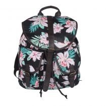 Fashion Floral Print Canvas Backpack Travelling Bag