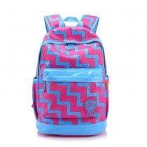 Fashion Geometric Floral Print Backpack Travelling School Bag
