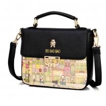 Fresh Style Graffiti Pattern Shoulder Messenger Bag