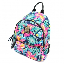 Fashion Floral Print Backpack School Bag