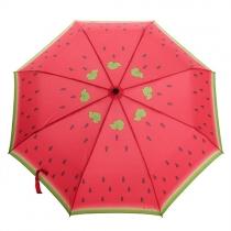 Watermelon Print Compact Folding Umbrella for Rain