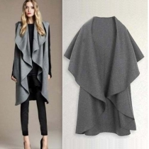 Fashion Cape-style Irregular Woolen Vest
