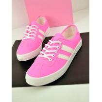 Leisure Candy Colors Lace-up Front  Canvas Shoes