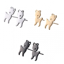 Cute Style Elk Shaped Stud Earrings