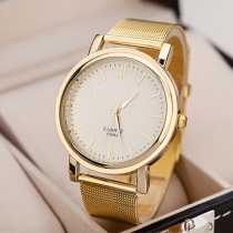 Fashion Alloy Watch Band Round Dial Quartz Watches