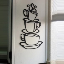 38*21 cm Waterproof Removable Coffee Cup Wall Stickers