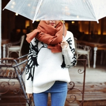 Fashion Solid Color Unisex Warm Scarf