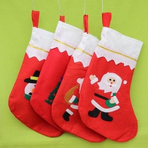 Cute Santa Claus Snowman Pattern Christmas Socks-Pattern Random