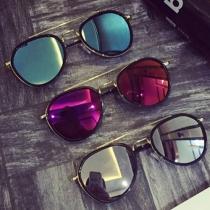 Fashion All-match Mirrored Sunscreen Unisex Sunglasses