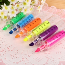 Cute Cartoon Syringe Shaped Fluorescence Marking Pen