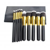 10 PCS Makeup Cosmetic Brushes Set