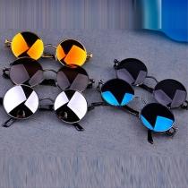 Retro Round Frame Anti-UV Sunglasses