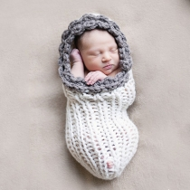 Cute Hand-knitted Baby Photography Prop Costume Sleeping Bag