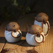 Cute Little Monk Shaped Teapot Tea Set