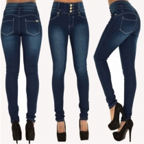 Fashion High Waist Slim Fit Stretch Jeans
