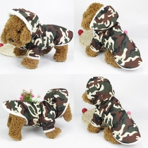 Fashion Sinle-breasted Hooded Camouflage Coat For Dogs