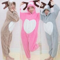 Cute Cartoon Animal Shaped One-piece Pajamas Sleepwear