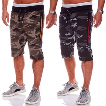 Fashion Camouflage Printed Men's Knee-length Sports Shorts