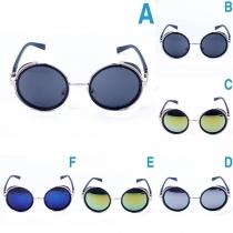 Retro Style Round Frame Sunglasses