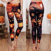 Chic Style High Waist Printed Leggings