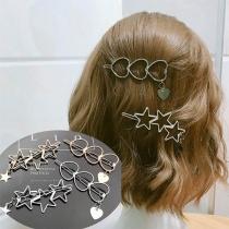 Fashion Heart/Pentagram Shaped Alloy Hairpin