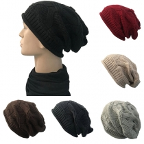 Hip-hop Style Solid Color Knit Beanies