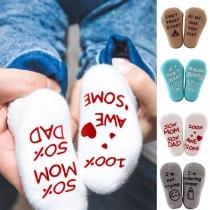 Fashion Letters Printed Anti-slip Socks for Babies  2 pairs/set