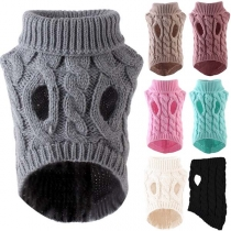 Fashion Solid Color Turtleneck Sweater for Pets