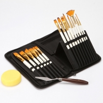 Hot Sale Professional Paint Brush Set 17 pcs/Set with Pouch