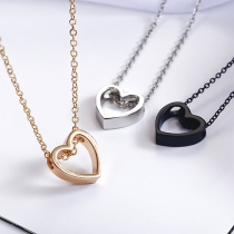 Fashion Hollow Out Heart Pendant Necklace