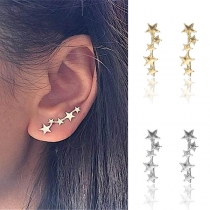 Simple Style Star Shaped Stud Earrings