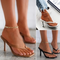 Fashion High-heeled Thong Sandals