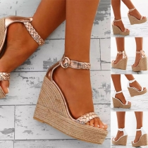 Fashion Wedge Heel Open Toe Sandals