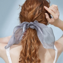 Simple Style Solid Color Bow-knot Hair Rope